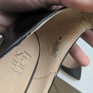 Franco Sarto new leather kitten heels
